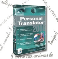 Personal Translator 2008 Home English - French
