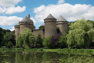Lassay-les-Chateaux in the Mayenne department
