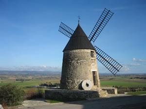 The Moulin de Cugarel near Castelnaudary in Aude