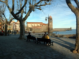 Port Collioure in the Pyrenees-Orientales
