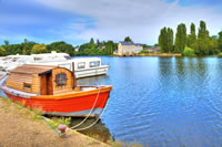 Boats on the Mayenne river