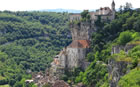 Rocamadour on the edge of the Dordogne River